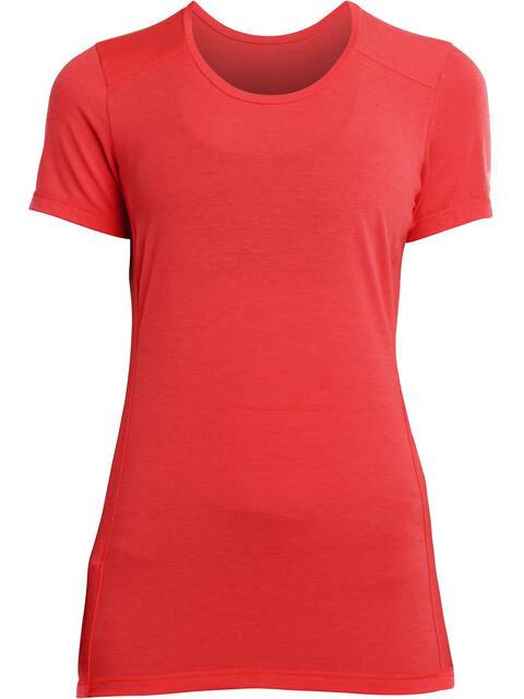 saucony Freedom Koszulka do biegania z krótkim rękawem Kobiety czerwony